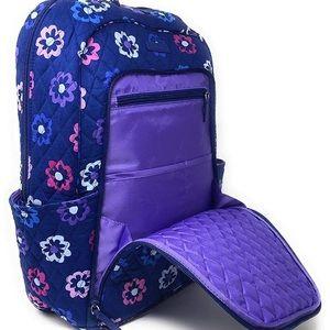 Vera Bradley Campus Laptop Backpack Ellie Flowers